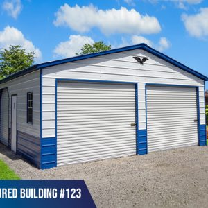 24x25x9 double metal garage