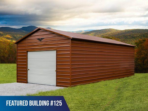 18x35x10 metal storage building