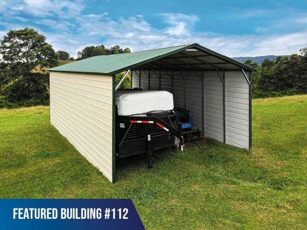 20' x 40' x 11' Carport with Sides