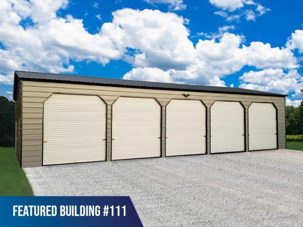 24' x 60' x 12' 5-Bay Metal Garage