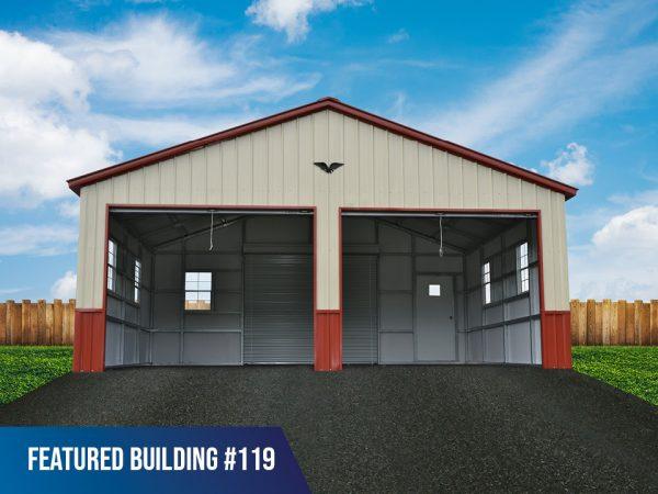 24x20x9 double-metal-garage