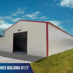 40' x 100' x 13'/8' Metal Warehouse