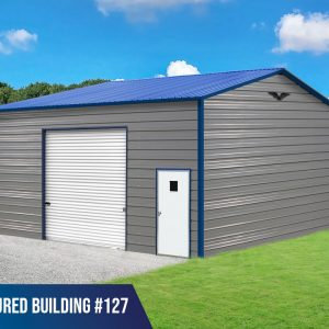 24x25x12 metal garage