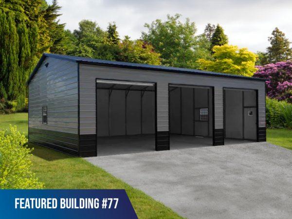 3 bay metal garage